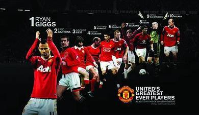 Man united fc legends poster
