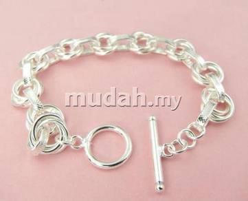 ABBS9-S006 Noble Silver 925 Bracelet 195 x 14mm