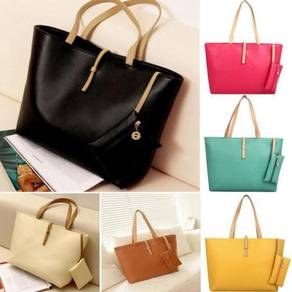 Pu leather bag with wallet