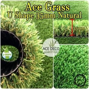 U35mm Natural Artificial Grass Rumput Tiruan 17