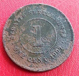 Straits Settlements 1 Cent 1907 (B)
