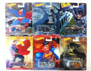 Hotwheels Pop C. Batman Vs. Superman Set of 6pcs