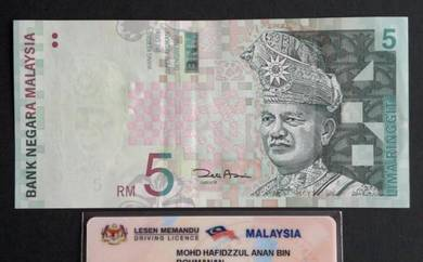 Duit Kertas RM5 11th Siri 11 Zeti Aziz AR8350756