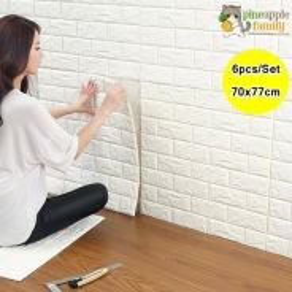 6 pcs 3d foam wallpaper sticker 12