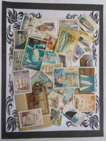 Themed stamps Ships 30 pcs BM14
