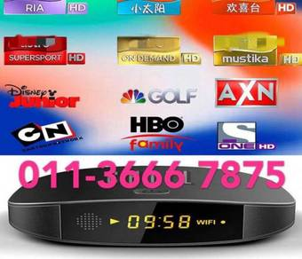 COMPLETE fulSTRO SET tv box top android max tvbox