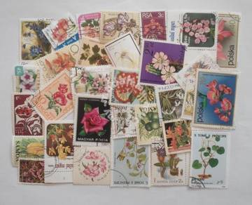 Theme stamps flowers 30 pcs
