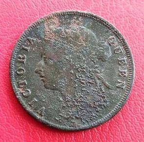 Straits Settlements 1 Cent 1901