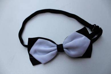 Diamond White Black Adjustable Men Bowtie Bow Tie