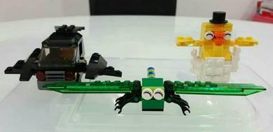 LEGO sets x 3 (LEGO Batman Car, Dragonfly, Chick)