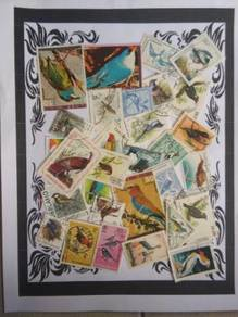 Themed stamps Birds 30 pcs BM11