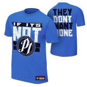 WWE WWF T Shirt (AJ P1 Light Blue)