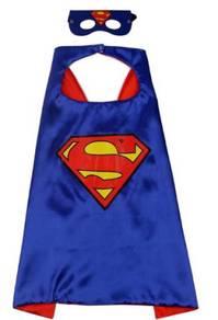 Superman cape superhero halloween red costume 1