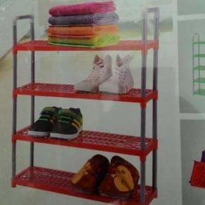 Shoe Rack Storage Organizer cloth kain Rak Kasut j