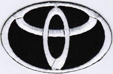 Toyota Emblem Logo WHITE #TB Motor Car Badge Patch
