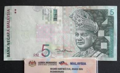 Duit Kertas RM5 11th Siri 11 Zeti Aziz BB7761090