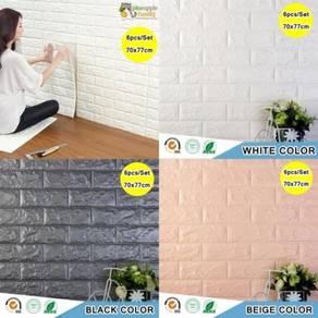 6 pcs 3d foam wallpaper 09