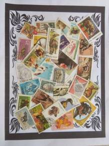 Themed stamps Animals 30 pcs BM10