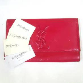 Yves Saint Laurent YSL Pink Patent Leather Clutch