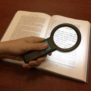 Magnifying Glass with LED Light (Battery Operated)