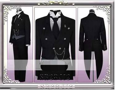 Anime Black butler sebastion cosplay costume