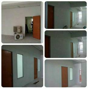 Gypsum Partition & Tempered Glass 63P