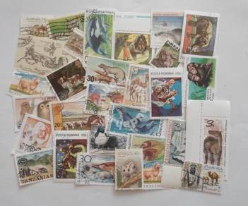 Theme stamps animals 30 pcs
