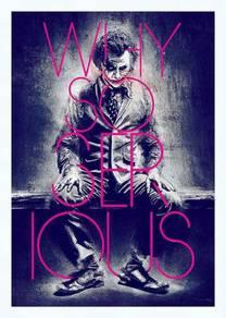 Joker why so serious poster