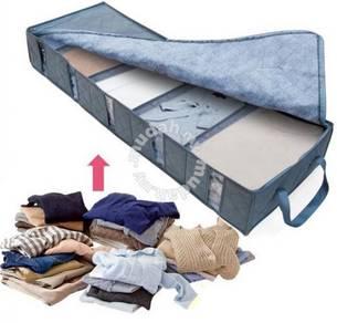 53L Bamboo Charcoal Foldable Storage Organizer Box