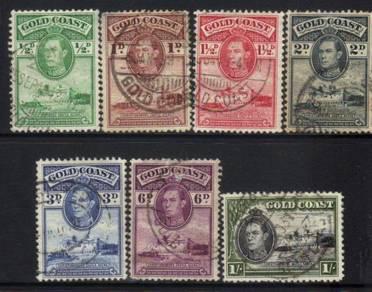 Gold coast 1938-1943 kgvi definitives used bj651
