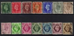 Gb 1937-1947 kgvi definitives used cat 10+ bj646