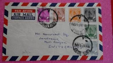 Cover Selangor to Switzerland 1953 no 312