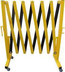 Expandable aluminium barrier fence retractable