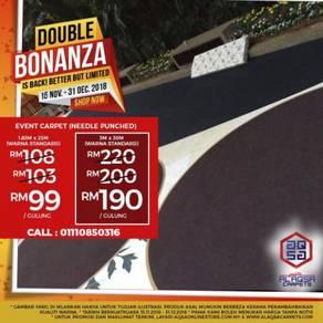 Double Bonanza Promo For Event Carpet