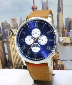 GUESS W0870G4 Delancy Blue Dial Leather Watch