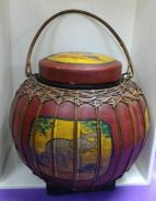 Hand Made Old Bamboo Chinese Basket Carry Handle