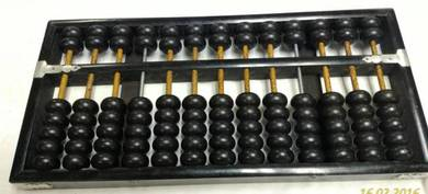 Vintage Chinese Brass Rod Abacus 91 Beads