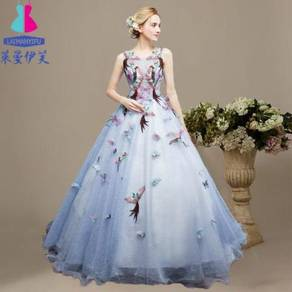 Blue Wedding bridal prom dress gown RB0227