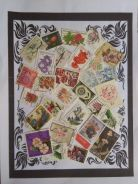 Themed stamps Flowers 30 pcs BM13