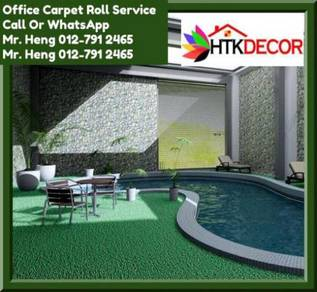 Classic Plain Design Carpet Roll with Install CE15