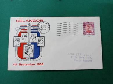 Fdc selangor 1955 b368