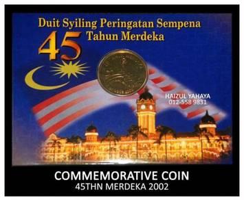Syiling Peringatan - 45 Tahun Merdeka (2002)