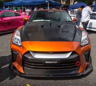 Nissan gtr r35 top secret v3 carbon fiber bumper