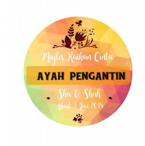 Sticker Printing Cetak Stiker Doorgift Majlis