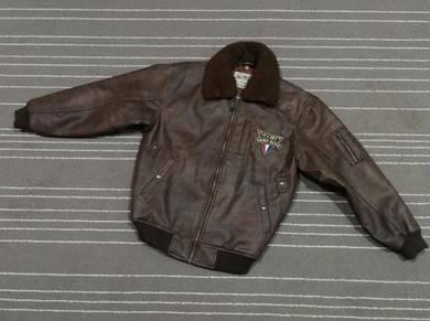 Flying jacket leather gang boys L
