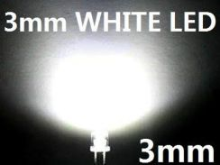 3mm White LED Bulb Light Emitting Diode Lamp