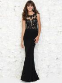 Black bodycon prom wedding dress gown RBP0886