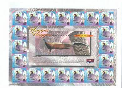 Mint Stamp Sheet Impef Unggas Malaysia 2000