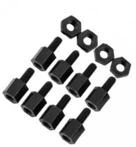 M2*5+5 Plastic Standoff Nylon Screws And Nuts