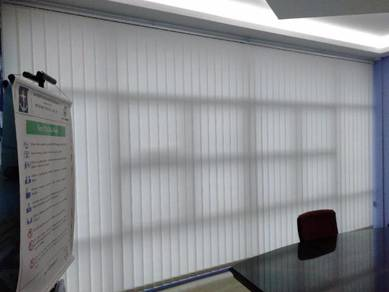 Install vertical blind curtain roller blind